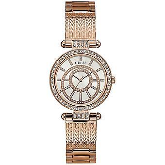 Guess Rose Gold Zegarek ze stali nierdzewnej W1008L3