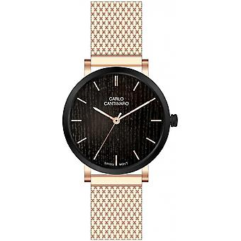 Carlo Cantinaro Rose Gold Stainless Steel CC1001GM012 Men's Watch