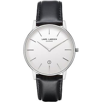 LLarsen (Lars Larsen Black Genuine Leather) 147SWBLLX Men's Watch