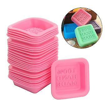 Cake pans molds 25pcs 3d square shape handmade soap molds