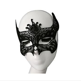 Homemiyn Party Lace Mask,masquerade Mask, Womens Lace Eye Mask ,dark And Sexy Style, Goddess Of Night