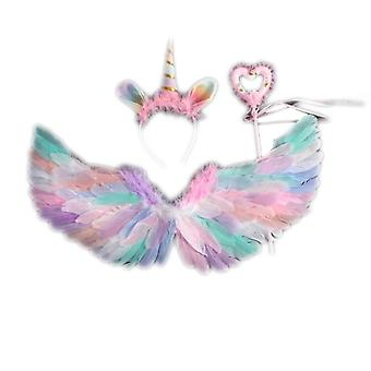 Angel Wings Costume, Feather Dress Up Props