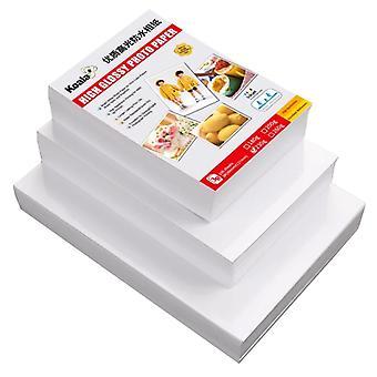 100pcs 230g Papier photo 5r 4r 3r Qualité Papier Photo Studio Papier Photo Papier Photo Brillant Papier Photo Adapté à Album Photo