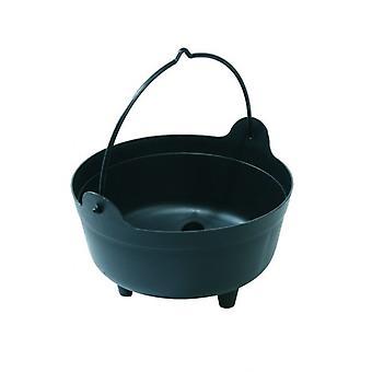 Black Large Cauldron Indoor Outdoor Plant Arrangements Gardening