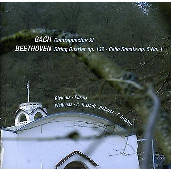 L.V. Beethoven - Bach: Contrapuntus Xi; Beethoven: String Quartet Op. 132; Cello Sonata Op. 5 No. 1 [CD] USA import