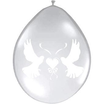 Hochzeit Luftballons Taube klarsichtig 8St. Deko Hochzeitsdeko