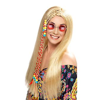 Hippie strana parochňa s pramene Flower Power 60s vlasy