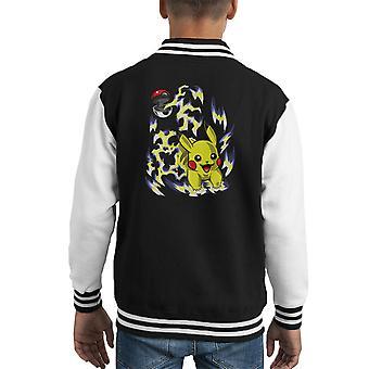 Varsity Jacket de l'enfant du Pokemon Pokeball Pikachu