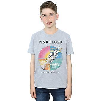ピンク ・ フロイドの男の子の t シャツがここにいて希望します。