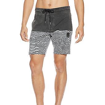 Volcom Vibes jammer elastische Boardshorts in zwart wit