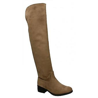 Spot On Womens/Ladies Mid Heel Over The Knee Boots