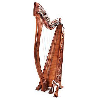Sagoma di cartone di strumento musicale di arpa / Standee / Standup
