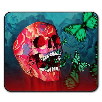 Vibrant Skull  Non-Slip Mouse Mat Pad 24cm x 20cm | Wellcoda