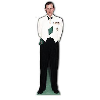 Prins Philip 1956 Lifesize karton gestanst