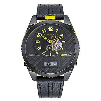 Ingersoll men's watch wristwatch automatic bison N0. 73 IN1716BBKY