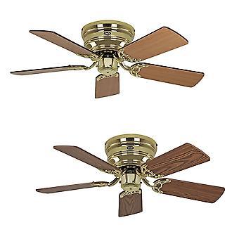Montare la culoare ventilator plafon Classic FLAT III lustruit alama