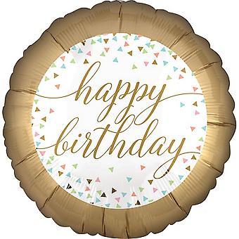 Anagram Happy Birthday Confetti Fun Foil Balloon 18in