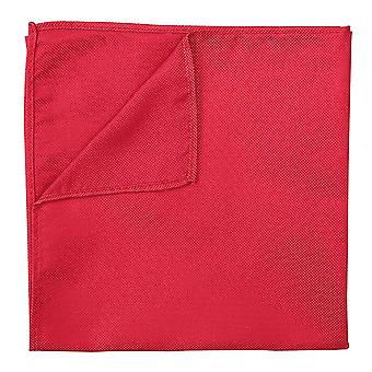 Strawberry Red Panama Silk Pocket Square