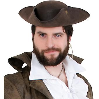 Pirat tricorn brunt vilda läder optik. Pirat Herrnhut