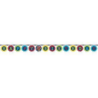 Robot letter Garland 1 piece children birthday theme party party birthday