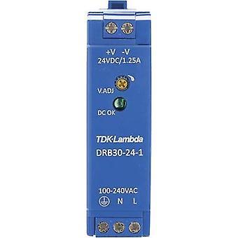 TDK-Lambda DRB-30-24-1 Rail mounted PSU (DIN) 24 V DC 1.25 A 30 W 1 x