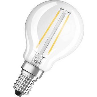 OSRAM LED (monocromático) EEC A++ (A++ - E) Gotícula E14 2,5 W = 25 W Branco quente (Ø x L) 45 mm x 78 mm Filamento 1 pc(s)