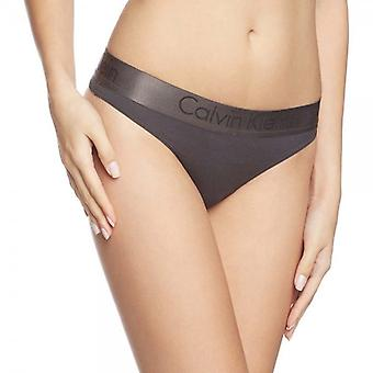Calvin Klein Women Dual Tone Thong, Black/Shadow/Grey, Medium