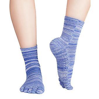 Knitido fruits de bien-être & poivre massage stop chaussettes | Court pieds anti-dérapant chaussettes pour yoga et Pilates avec ABS