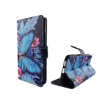 Telefon komórkowy case etui dla mobilnych Vodafone smart Prime 7 niebieski motyl