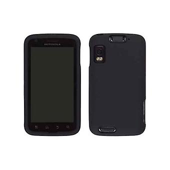 Wireless Solutions Soft Touch Snap-On Case for Motorola Atrix 4G MB860 - Black