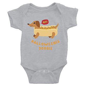 Halloweenie Doggie Baby Bodysuit Gift Grey