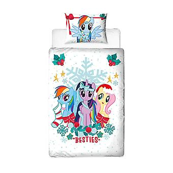 Min Little Pony Holly Christmas enkelt Duvet dekker sett