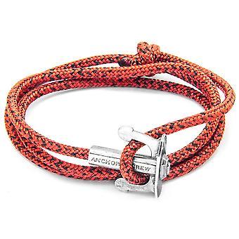 Âncora e União da equipe prata e pulseira - Noir vermelha da corda