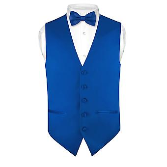 Imposta Mens SLIM FIT vestito gilet BowTie solido Papillon fazzoletto