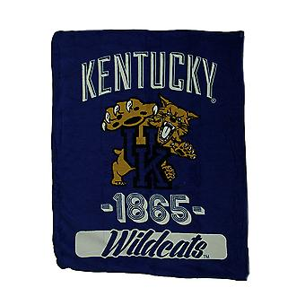 NCAA Kentucky Wildcats Micro Raschel Plush Throw Blanket 46 x 60 inch