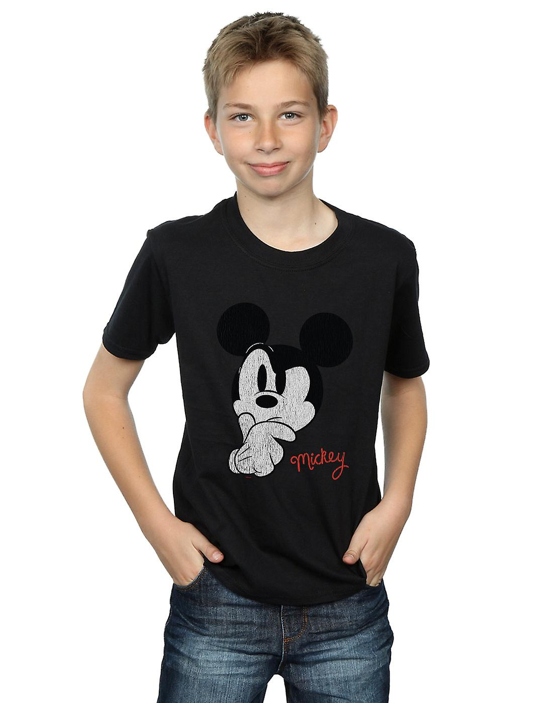 Disney Boys Mickey Mouse Distressed Ponder T-Shirt