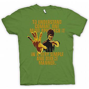 Kinder T-shirt - Bruce Lee Quote - Bekämpfung man verstehen muss nähern.
