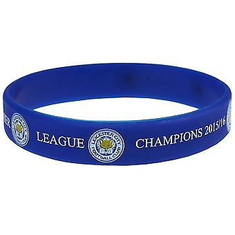 Leicester City FC Official Champions Silicone Wristband