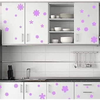 مجموعة من 36 زهرة الجدار ملصقات خزائن المطبخ