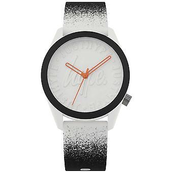 Hype | Black/White Silicone Strap | White Dial | HYU009BW Watch