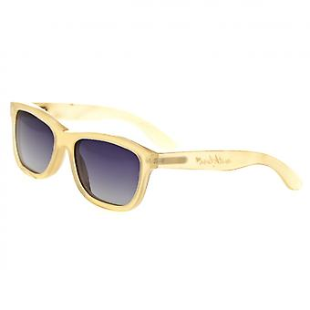 Bertha Olivia Buffalo-Horn Polarized Sunglasses - Honey/Black