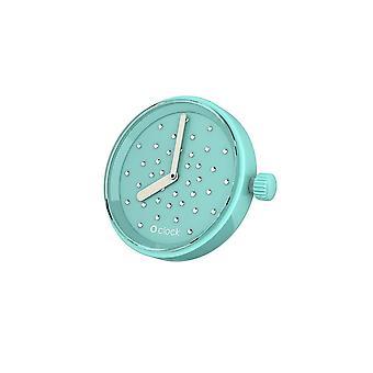 Turquoise O clock klokje Crystal Swarovski