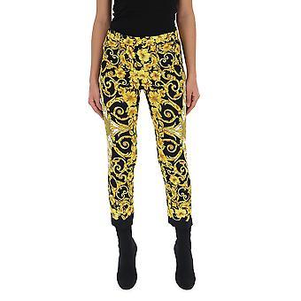 Versace Black Viscose Pants