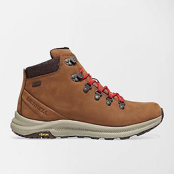 New Merrell Men's Ontario Mid Waterproof Walking Boots Brown