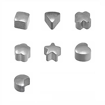 Caflon White Sliver Plated - Assorted Shape Piercing Studs (12 Pack)