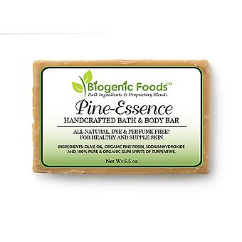 Pine-Essence Bath & Body Bar - 100% Natural Pine Spirits of Turpentine Hand Crafted Soap, 5 oz bar
