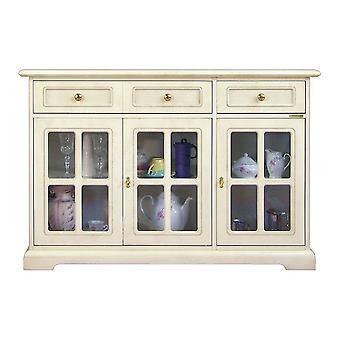 Klassisches Cupboard lackiert 3 Türen in Vitrine