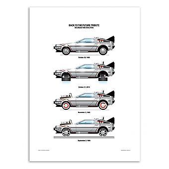 Art-Poster - DeLorean DMC-12 - Olivier Bourdereau
