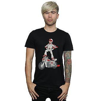Disney Men's Toy Story 4 Duke Caboom Pose T-Shirt