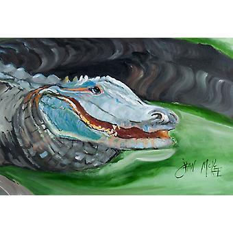 Carolines Treasures JMK1003PLMT blå Alligator stoff underlag